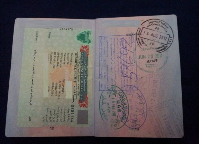 Bahrain-Visa-690x500 Taiwan Visa Application Form Dubai on south africa, b1 b2, german schengen, enter japan sample,