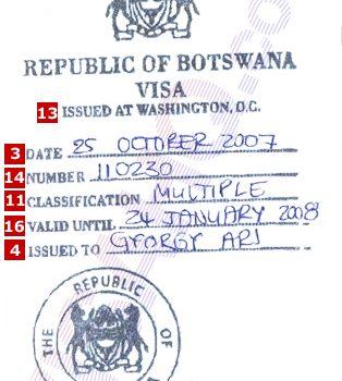 Botswana Visa Archives Embassy N Visa