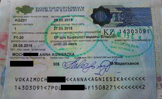 kazakhstan visa application form