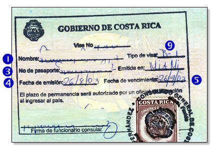 Costa Rica Visa Documents Required Embassy N Visa